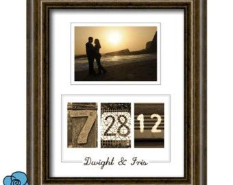 Personalized Wedding Date Printable Wall Art DIY  - Engagement, Wedding, Valentines or Anniversary Gift