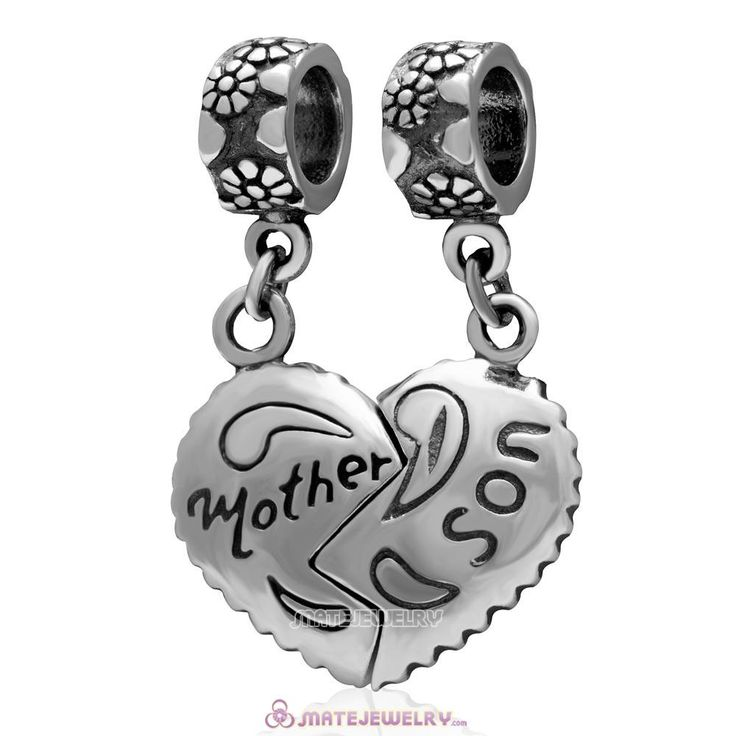 Lily Jewelry Piece of My Heart Mother/Son with Turquoise Enamel Dangle 925 Sterling Silver Bead Fits Pandora European Charm Bracelet flvG28Q4w