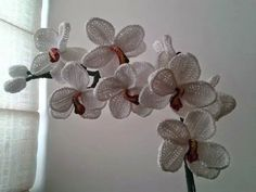 tra un punto e l'altro: TUTORIAL orchidea uncinetto
