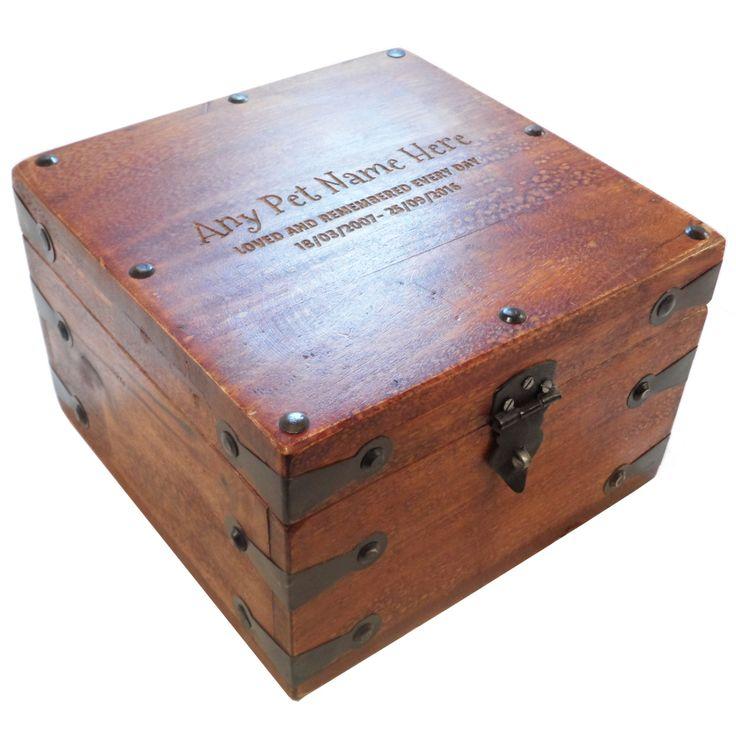 Large Remembrance Wooden Pet Urn Cremation Ashes Dog Pet Ash Box Personalised by PutItOnWoodPIOW on Etsy