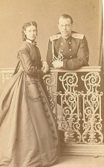 kronprinz alexander von russland mit prinzessin dagmar von. Black Bedroom Furniture Sets. Home Design Ideas