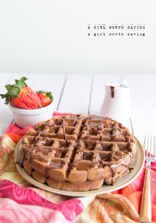 Grain Free Chocolate Waffles with Chocolate Syrup (I plan to add coffee extract to make mocha sauce.Yum). Valentine's weekend!