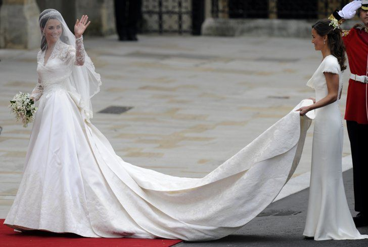 Pin for Later: The Most Glamorous Dresses Kate Middleton's Ever Worn  Wearing her custom Alexander McQueen wedding gown at the royal wedding in April 2011.
