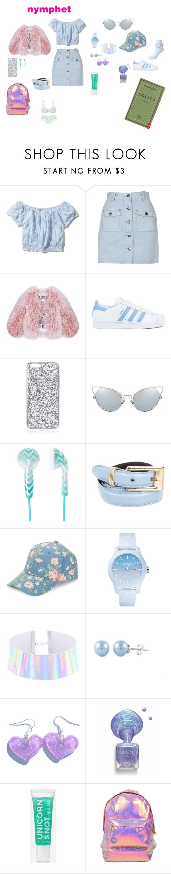 """Casual Blue Nymphet"" by deadlynightshadenymph on Polyvore featuring Hollister Co., MINKPINK, Edition, Florence Bridge, adidas, Oscar de la Renta, BCBGeneration, Lacoste, cutekawaii and Miss Selfridge"