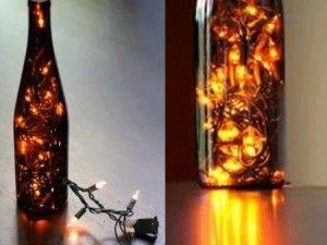 Come costruire una lampada: consigli per riciclare bottiglie di vetro.