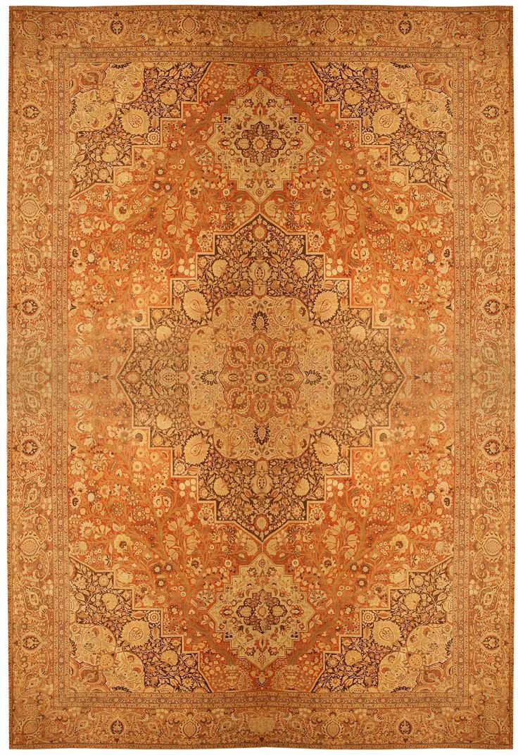 View this beautiful oversized antique Persian Haji Jalili Tabriz rug #41353 from Nazmiyal's fine antique rugs and decorative carpet collection