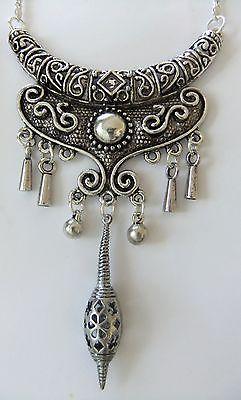 Moroccan Necklace Ethnic Tribal Bohemian Vintage Tibetan Jewelry Kuchi
