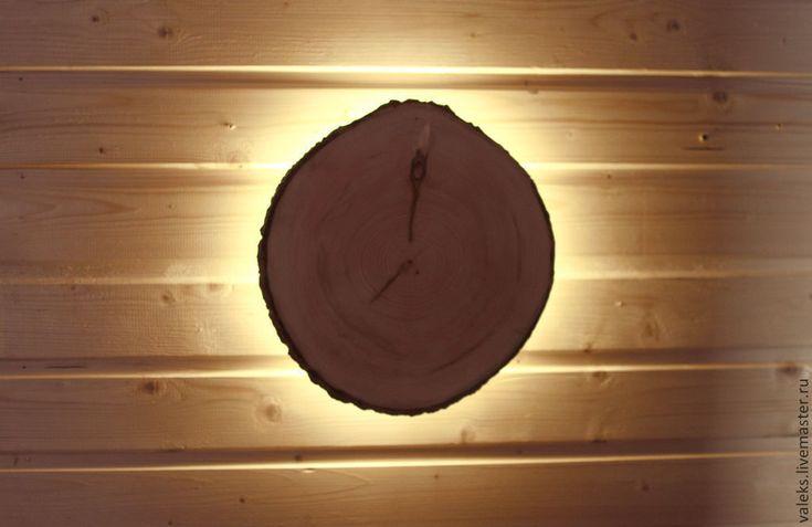 """Купить Светильник led """"Санрайз"""" 3 Вт - коричневый, декор для интерьера, деревянный светильник"""