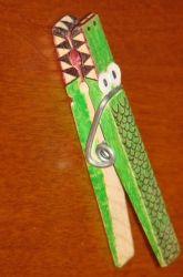Second Grade Recycled Crafts Activities: Alligator Craft