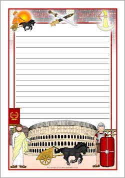 Romans A4 page borders - lined (SB9445) - SparkleBox