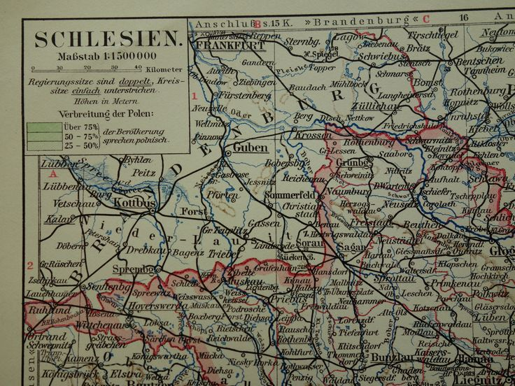 "Old map of 1913 original vintage poster Silezia Germany Poland - Breslau Riesengebirge - alte karte von Schlesien carte mapa Śląska 10x13"" by VintageOldMaps on Etsy"