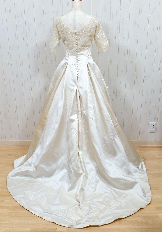 ヴィンテージウェディングドレス 5933 50s シルクサテン