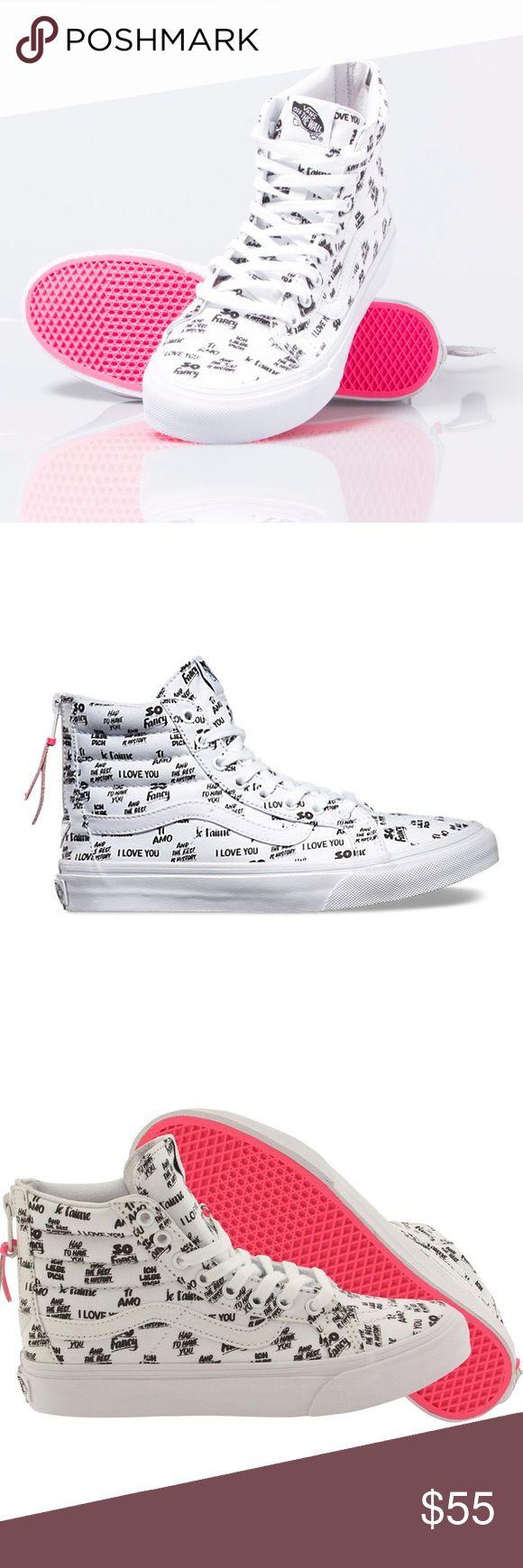 Vans Baron Von Fancy Sk8-Hi Slim Zip Collaboration The shoe pictured is the exact pair for sale. Vans Shoes Sneakers