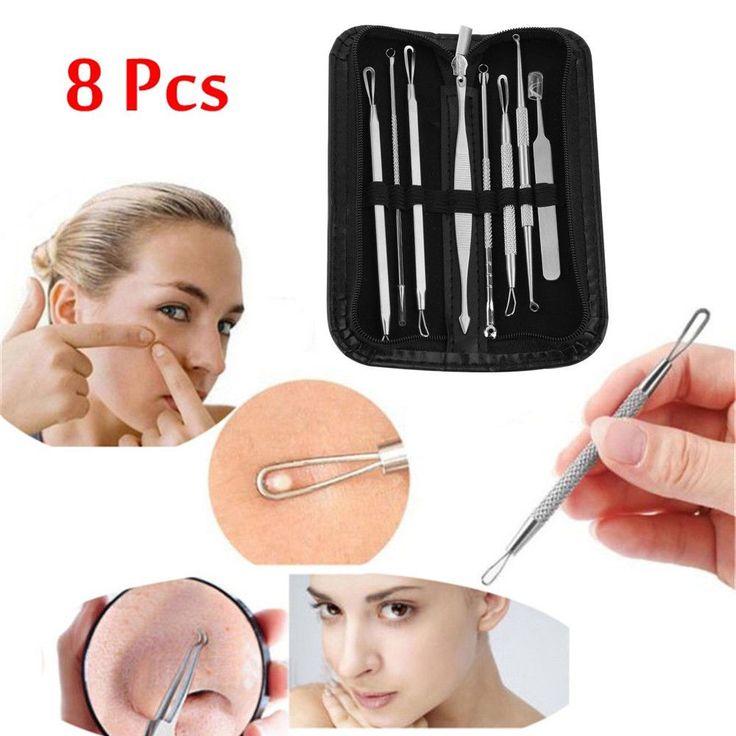 remove blackheads 8pc Blackhead Remover Tool Kit P…