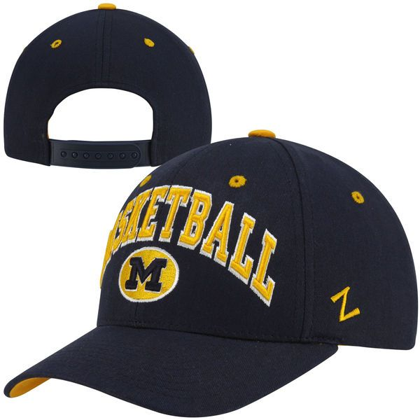 Zephyr Michigan Wolverines Basketball Team Color Adjustable Hat - Navy Blue - $9.99