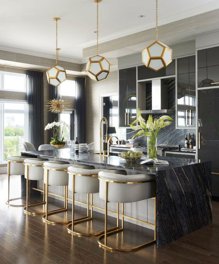 Glamorous Chic And Sophisticated Interiors Kitchen