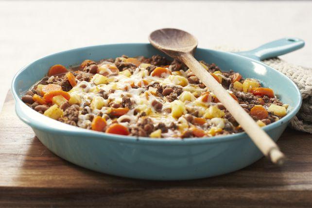 Un repas consistant, préparé à partir d'ingrédients de tous les jours.