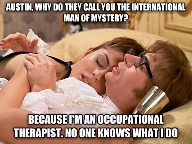 Take out occupational therapist and put in athletic trainer.