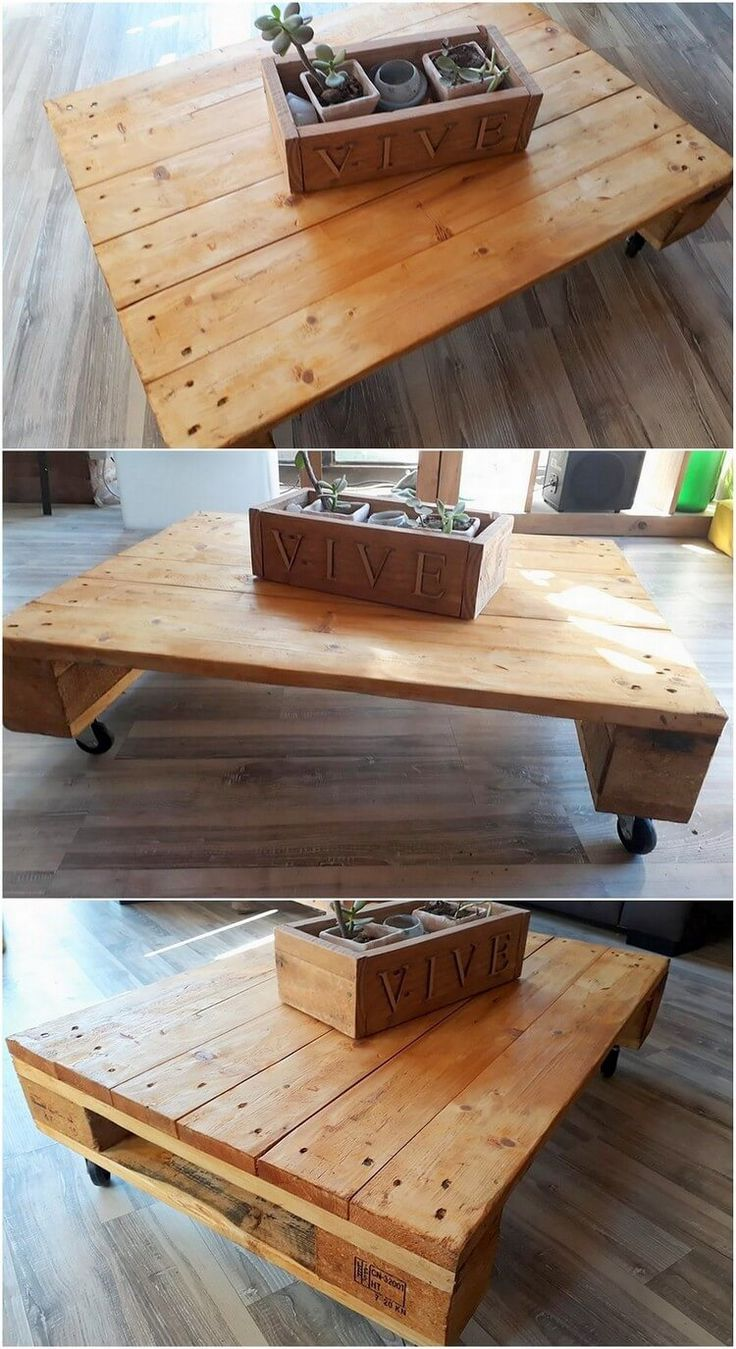 Wood Pallet Table Top 662 Best Pallet Tables Images On Pinterest