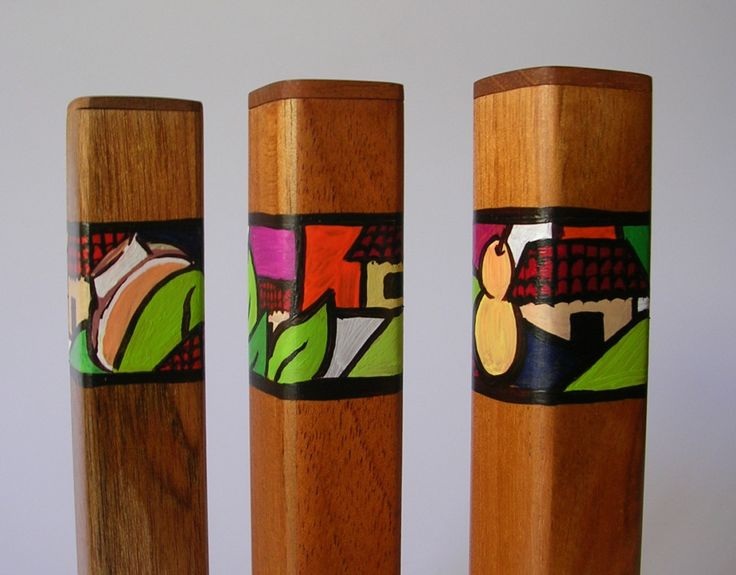 3 Piece Cigar Tubes, Wood Cigar Case, Cigar Tubes, Cedar Cigar Tubes, Cigar Accesories,Cigar Case, Cigar Holder, Hand Painted Cigar Case by Hondurascrafts on Etsy