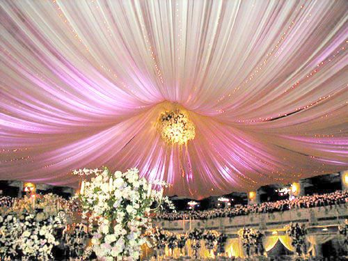64 best wedding ceiling decor images on pinterest reception diy ceiling and wall draping kits httpwedding flowers junglespirit Gallery