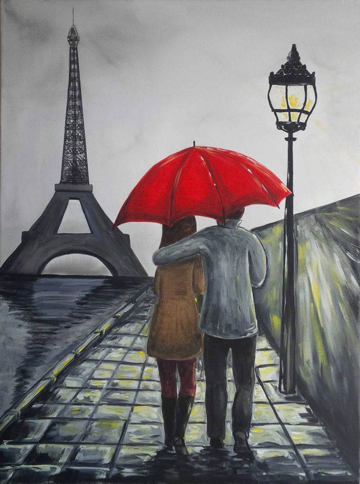 paris acrylic on canvas