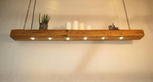 Hängelampe Balkenlampe Esstisch LED Altholz Lampe Balken