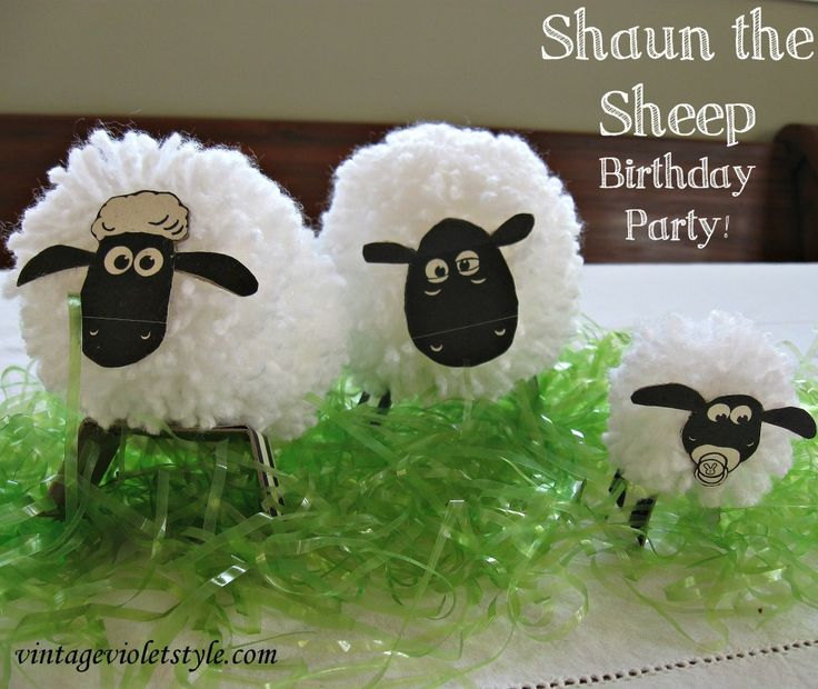 Shaun the Sheep Birthday Party - super cute, easy ideas to create your own Shaun the Sheep birthday party