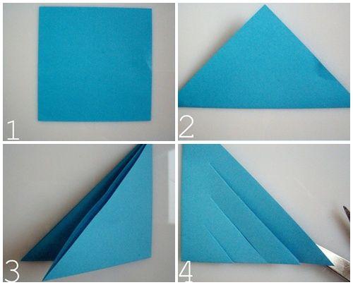 Estrella polar de papel una manualidad f cil y vistosa for Adornos navidenos origami paso a paso