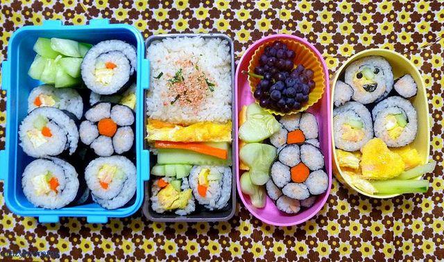 Bento #4: Flower sushi