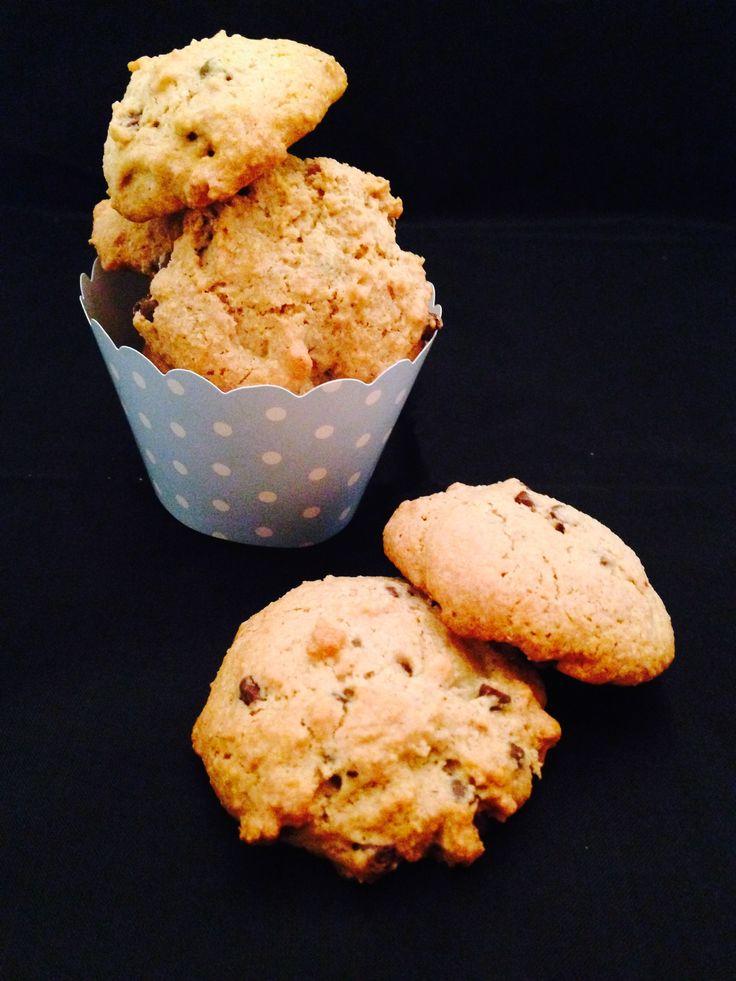 Cookie Vegan con Farina d'Avena e Gocce di Cioccolato