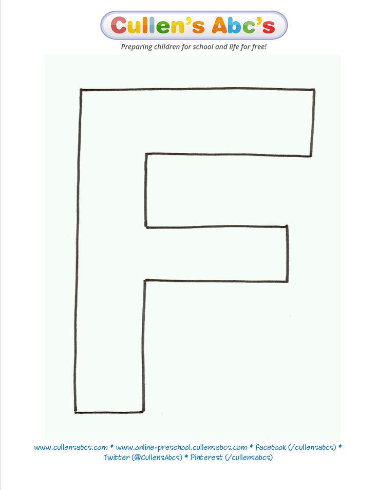 letter f template printable  Uppercase Letter Template - twoj doktor