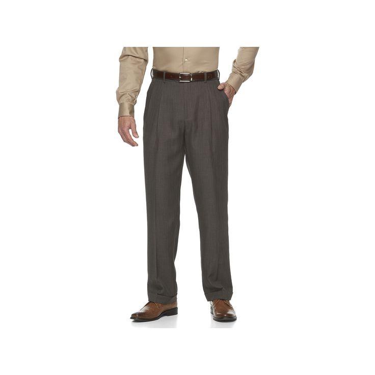 Big & Tall Croft & Barrow® Essential Classic-Fit Pleated Dress Pants, Men's, Size: 40X36, Light Grey
