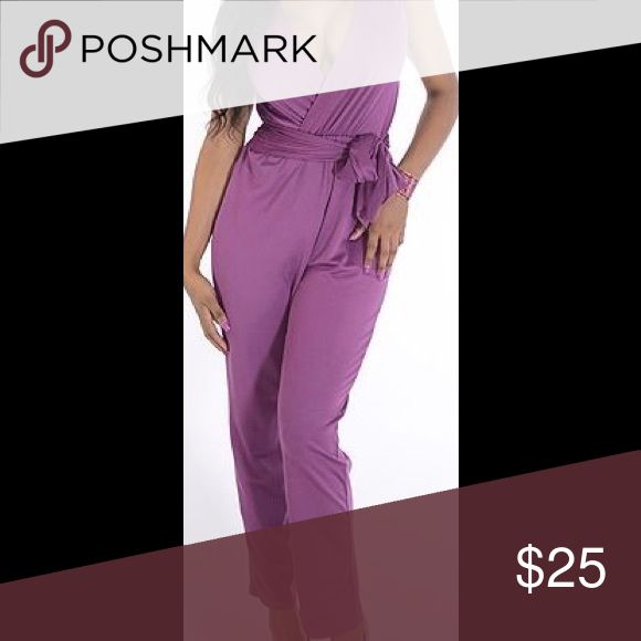 LovieDovie Purple Jumpsuit Very soft fabric _ stretchy _ high waist fit _ around waist same fabric belt attached to the side _ loviedovie _ gorgeous purple Lovie Dovie Other