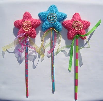 Star Wands. Follow the link to the star pattern. (free)