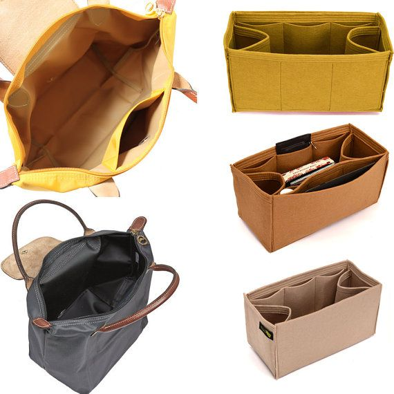 Bag Purse Organizer for Longchamp totes, Felt Purse Organizer, bag insert, Bag Organizer for Longchamp (Express Shipping)