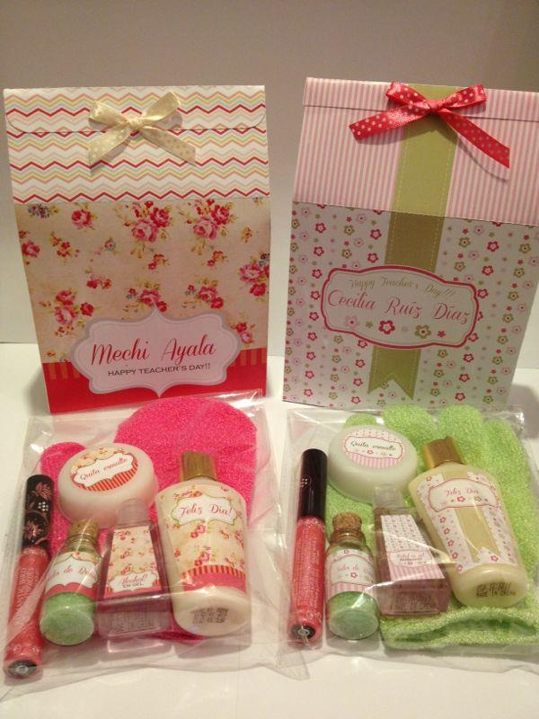 Kit spa para las profes... Happy Teachers Day by KP www.facebook.com/kppuntocom www.karinapallares.com