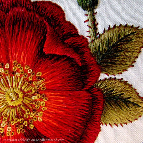 1832 Best Embroidered Poppies And Others Flowers Images On