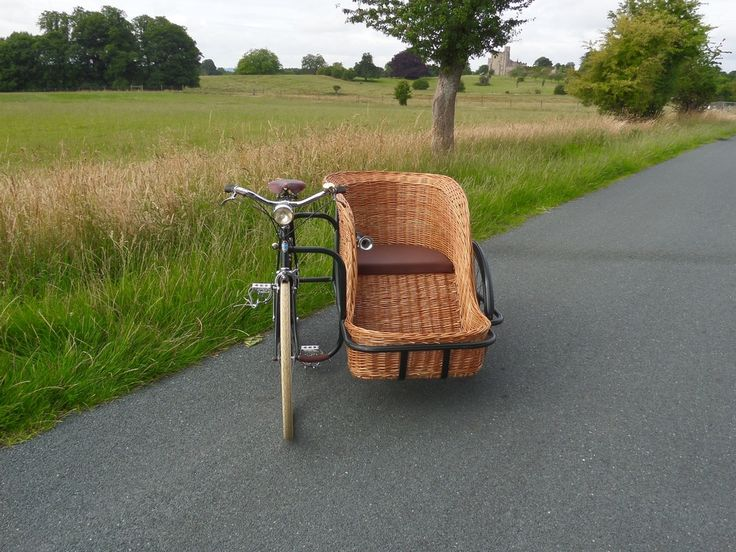 Vintage Bicycle Sidecar Straight