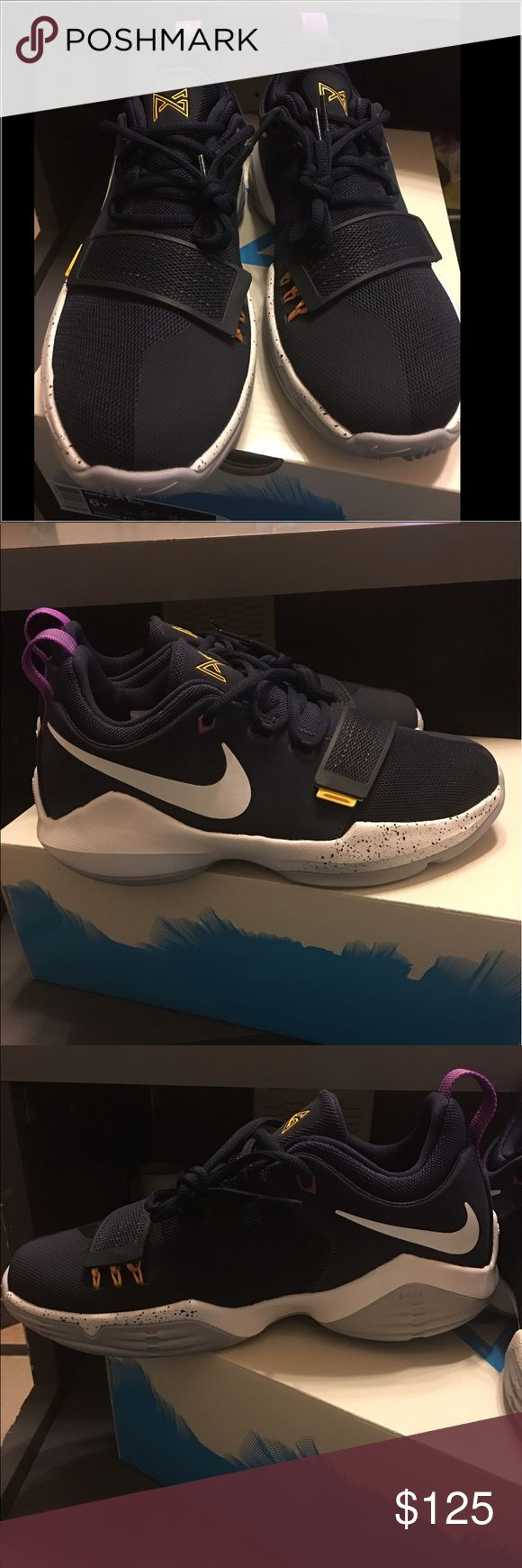 Nike Pg1(shoes) unisex 100% Authentic Nike Pg1 Paul George Ferocity the bait Navy Basketball Shoes..(Unisex).. brand-new tennis shoes never been used or tried on and very new condition with tags and receipt.. smells like mu looks like new it is new.. Nike Shoes Sneakers