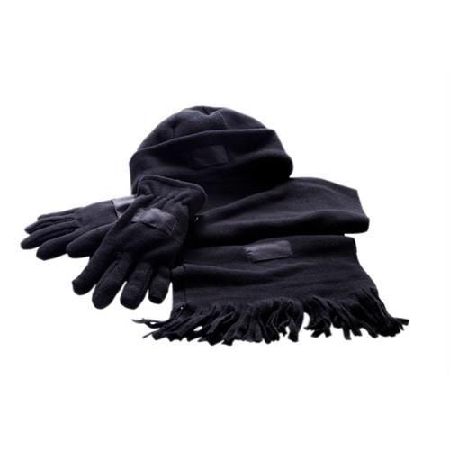 Флисовый комплект шапка шарф перчатки