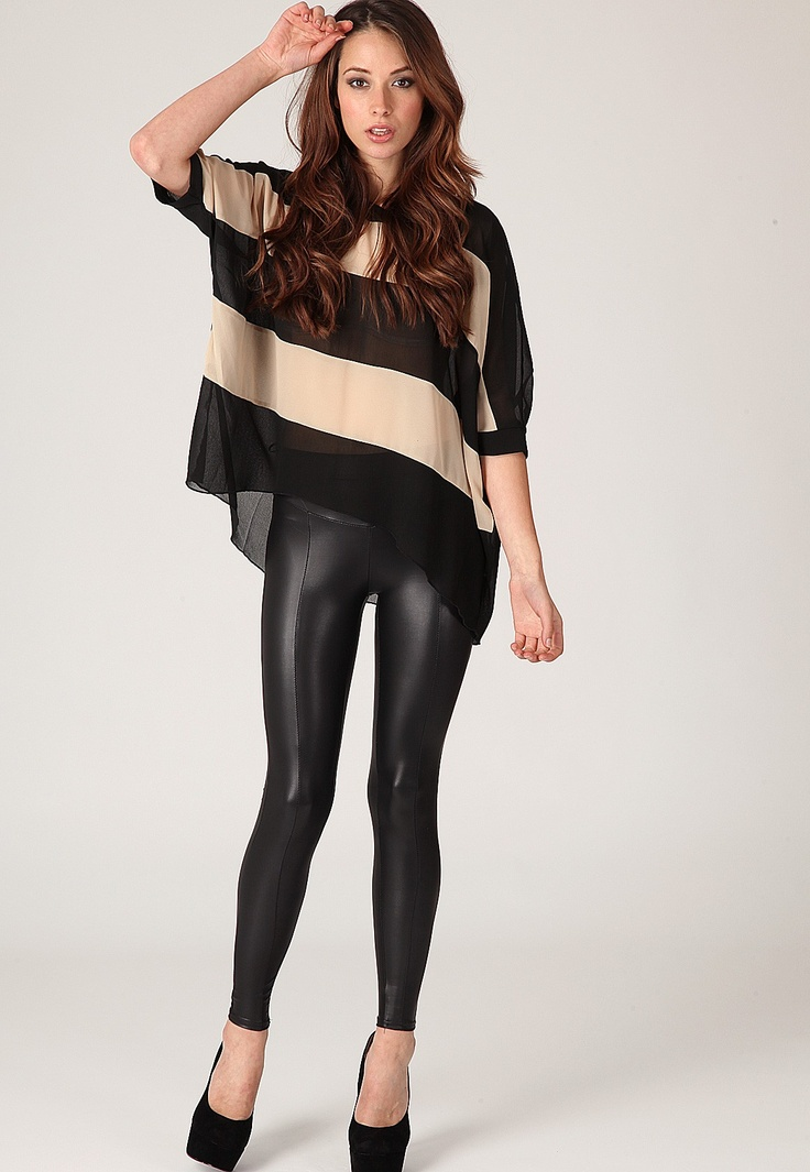 Weroma Leather Look Leggings Want these soo bad not those in particular just leather leggings