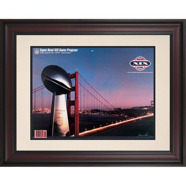 """Fanatics Authentic 1985 49ers vs. Dolphins Framed 10.5"""" x 14"""" Super Bowl XIX Program - $89.99"""