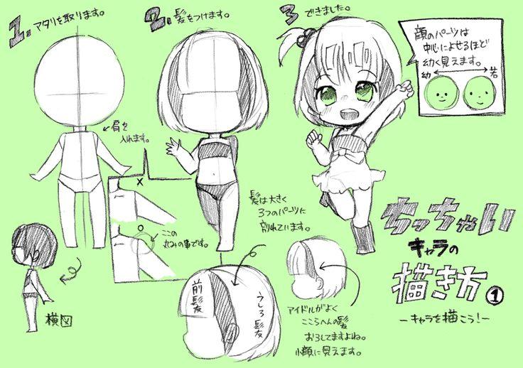 【講座】ちっちゃいキャラの描き方①