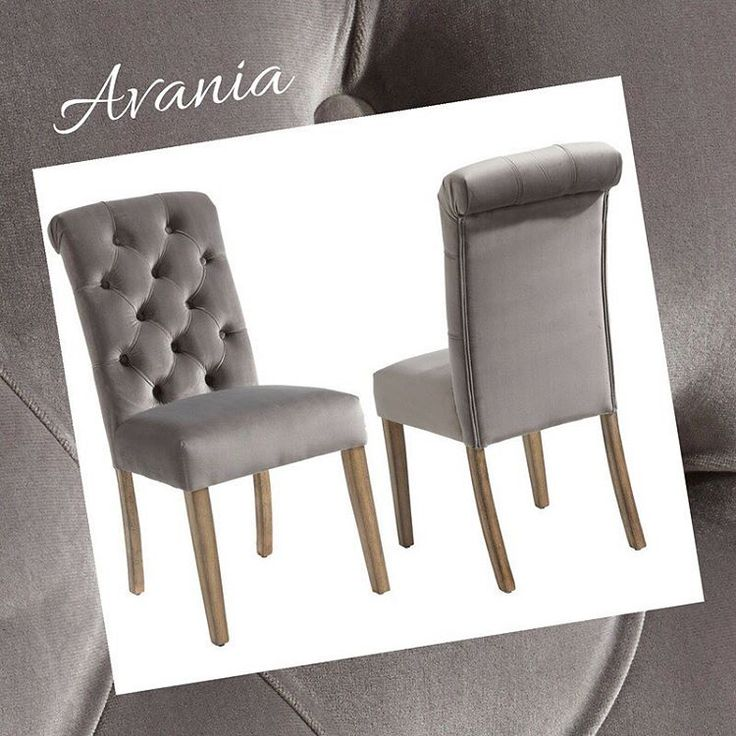 The ever-popular Avania dining chairs. So soft, so luxurious, no wonder they fly off showroom floors!     http://worldwidehomefurnishingsinc.com/avania-side-chair-in-grey-2pk.html