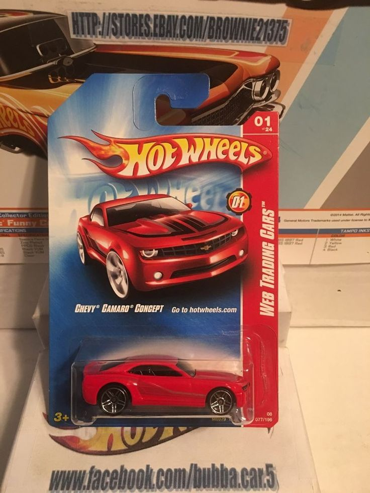Hot Wheels Chevy Camaro Concept #077 Red  Web Trading Cars 2008 #HotWheels #Chevrolet
