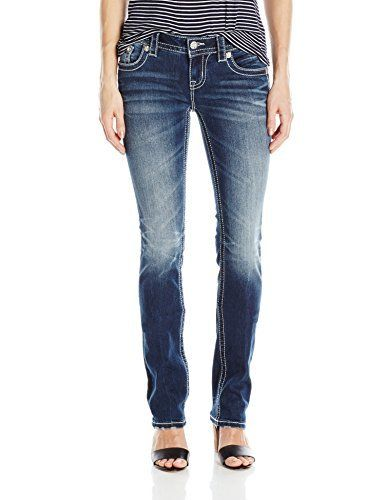 New Trending Denim: Miss Me Womens Studded Straight Leg Jean, MK, 27. Miss Me Women's Studded Straight Leg Jean, MK, 27  Special Offer: $86.11  411 Reviews Aztec inspired stud and embroidered straight leg denim jeanLogo hardware detailing throughoutFeaturing unique whisker wash detailing