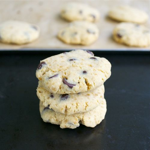 Coconut Flour Chocolate Chip Cookies #glutenfree #grainfree #paleo