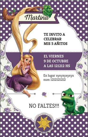 Kit imprimible Rapunzel