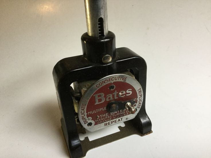 Bates Vintage Numbering Machine Style E W Black Ink By Hannahandhersisters On Etsy